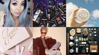 Instagram posts by (clockwise) Vy Nguyen, Urban Decay, Glossier, Le Labo, Linda Rodin, Glossier | Source: Courtesy