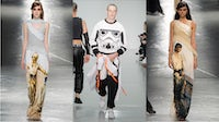 Star Wars themed looks from Bobby Abley Spring/Summer 2016 (centre) and Rodarte Autumn/Winter 2014 | Source: Selfridges