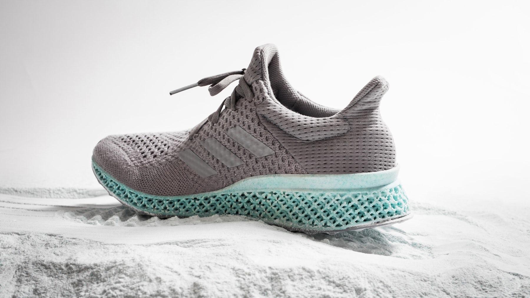 Adidas 3D-printed ocean plastic sneakers | Source: Adidas