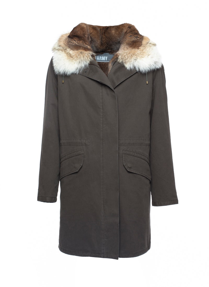 Yves Salomon 'Army' parka coat | Source: Yves Salomon