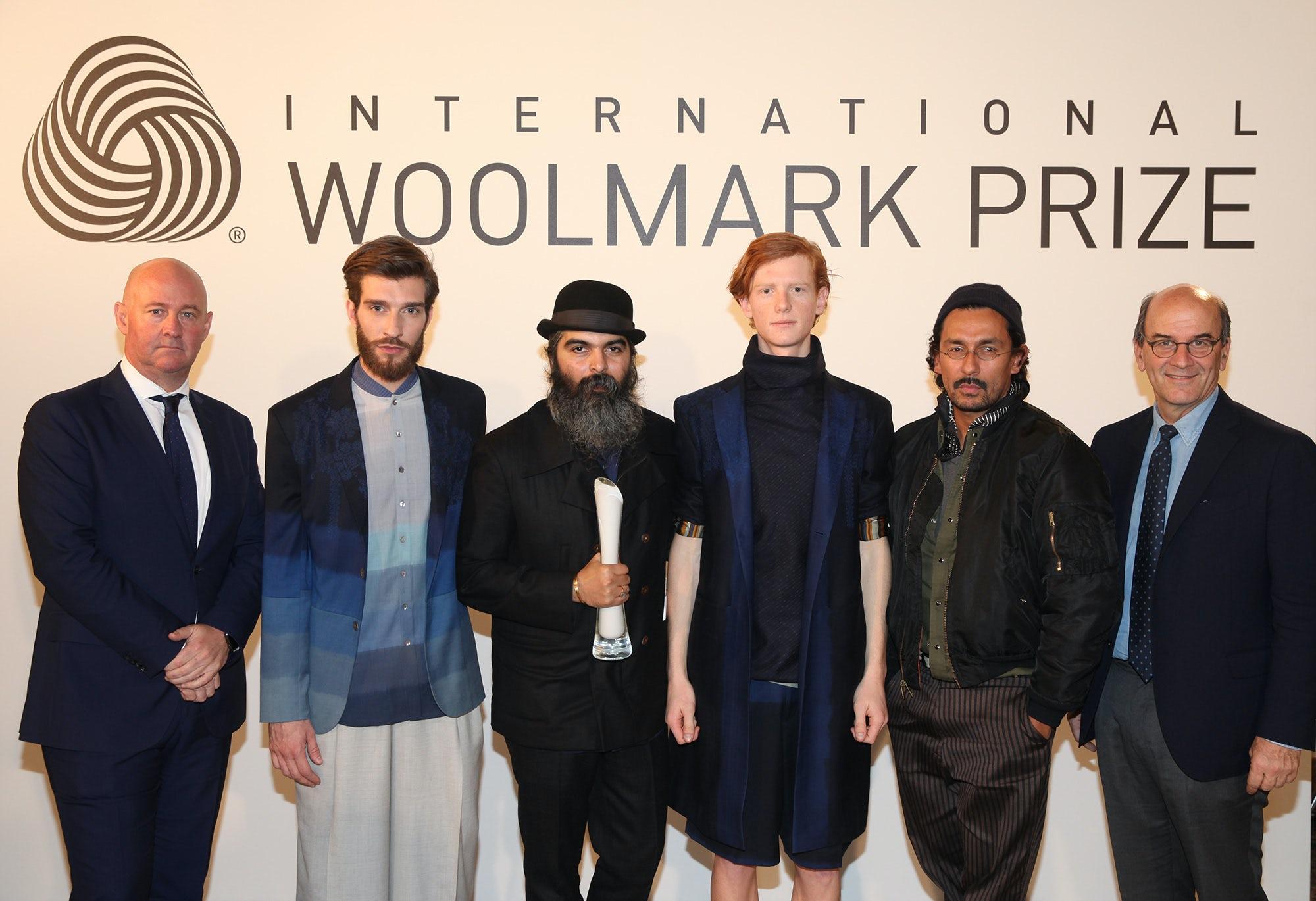 Stuart McCullough, Suket Dhir, Haider Ackermann, Raffaello Napoleone and models   Source: Courtesy