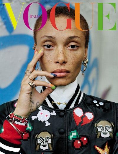 December 2015 cover shot by Tim Walker | Source: Vogue Italia
