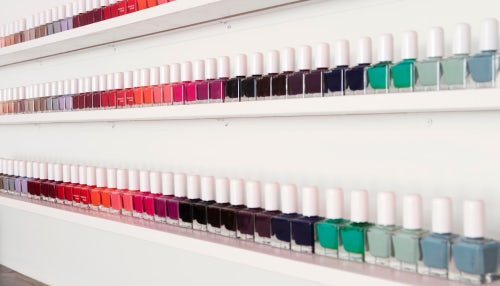 Nail varnish on display in Tenoverten's Fulton Street store | Source: Courtesy