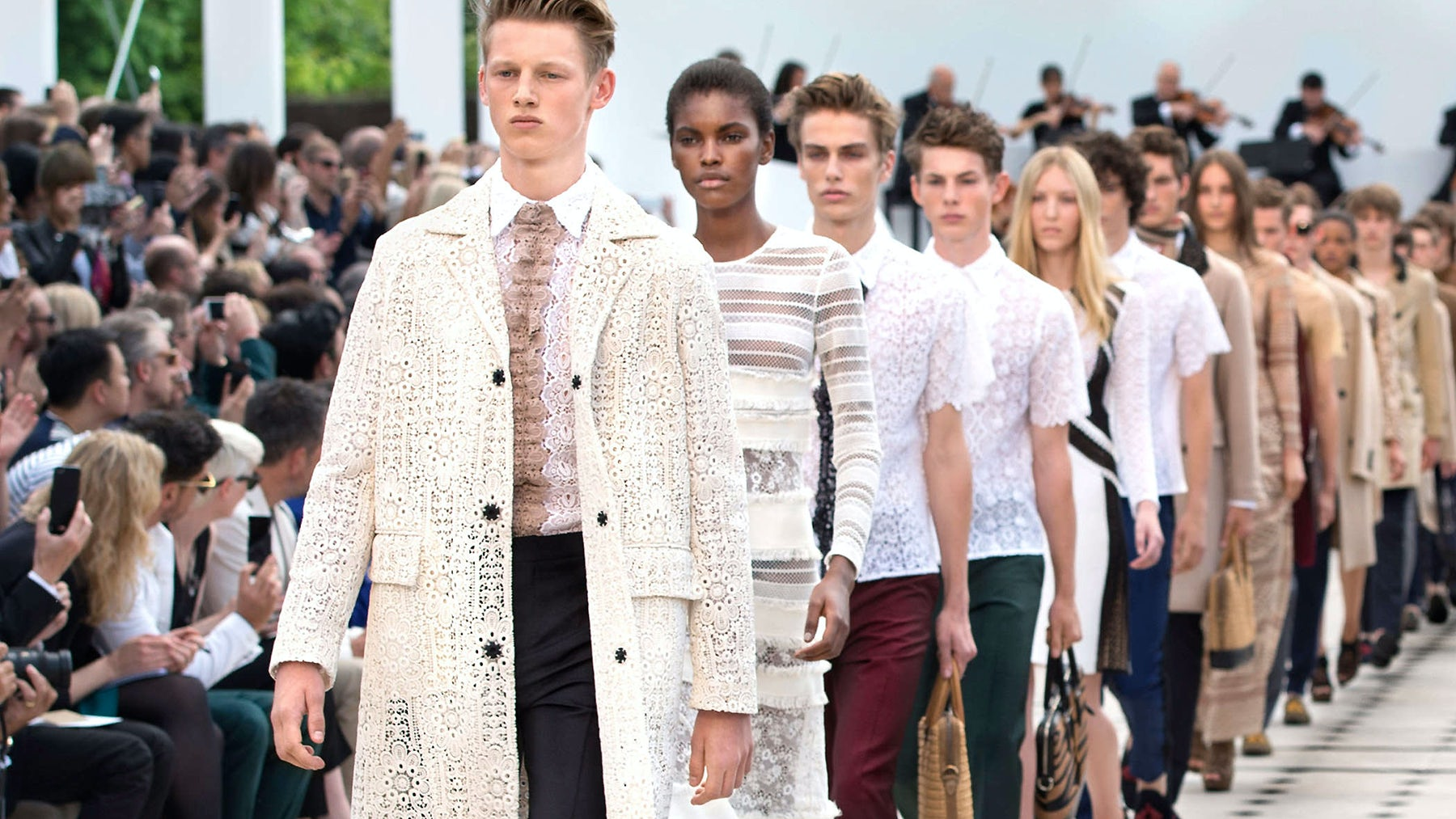 Burberry's Spring/Summer 2016 menswear show at London Collections: Men   Source: Burberry