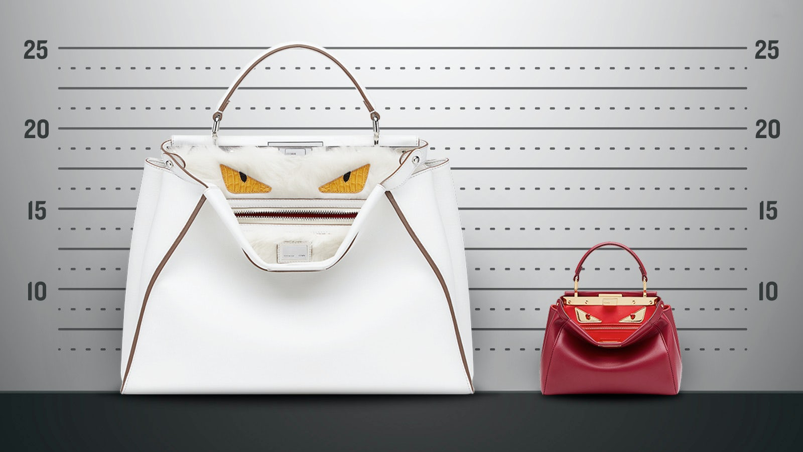 Fendi's Peekaboo handbag in 'large' and 'mini' | Photo: Paul Price for BoF