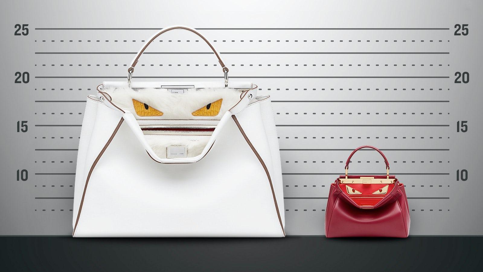 Fendi's Peekaboo handbag in 'large' and 'mini' | Photo: Paul Price for BoF
