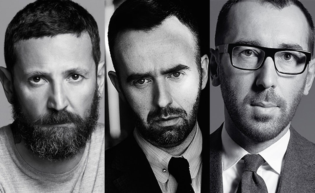 From left: Stefano Pilati, Brendan Mullane, Alessandro Sartori | Source: Courtesy