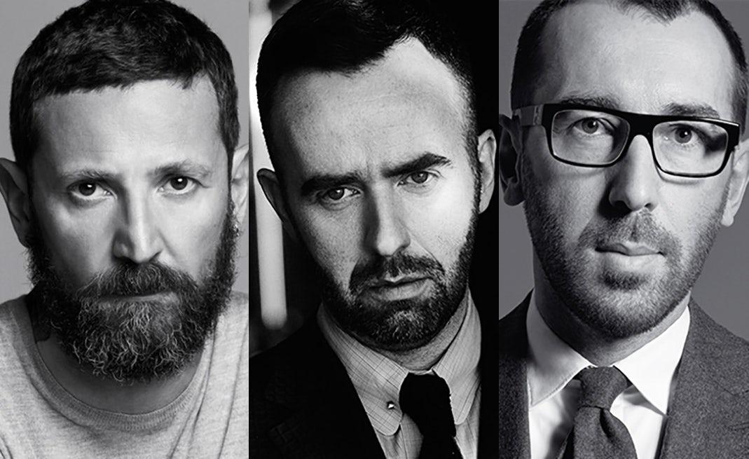 From left: Stefano Pilati, Brendan Mullane, Alessandro Sartori   Source: Courtesy