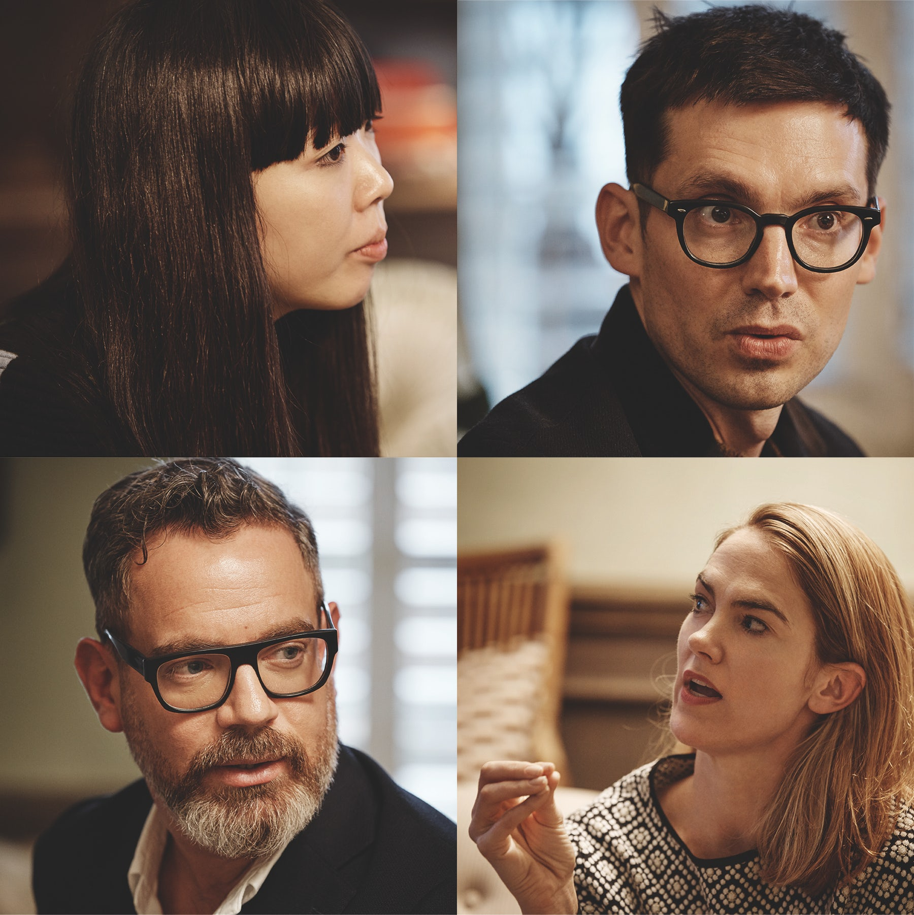 From left, clockwise: Susanna Lau, Erdem Moralioglu, JJ Martin and Daniel Marks | Photo: Mark Sanders for BoF