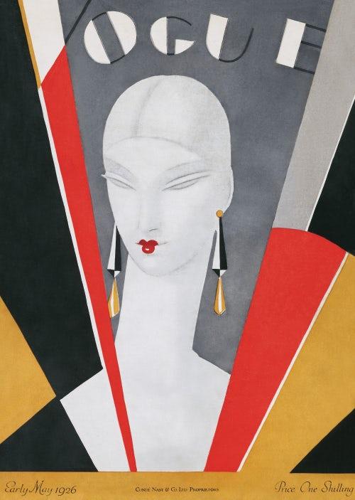 May 1926 British Vogue Cover by Eduardo Benito | Source: Condé Nast