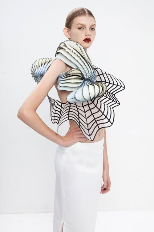 A 3D-printed look by Noa Raviv, created using a Stratasys printer | Source: Stratasys