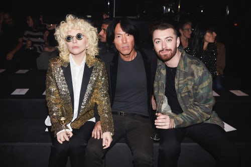 Stephen Gan with Lady Gaga and Sam Smith at Saint Laurent's Autumn/Winter 2016 show in LA | Source: Courtesy