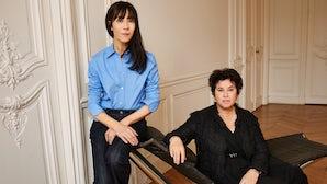 Bouchra Jarrar and Lanvin chief executive officer Michèle Huiban | Source: Lanvin