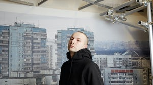 Designer Gosha Rubchinskiy in the label's space at the new Dover Street Market in London | Photo: Thomas Lohr for BoF