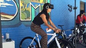 IBM's virtual reality cycling at SXSW   Photo: BoF