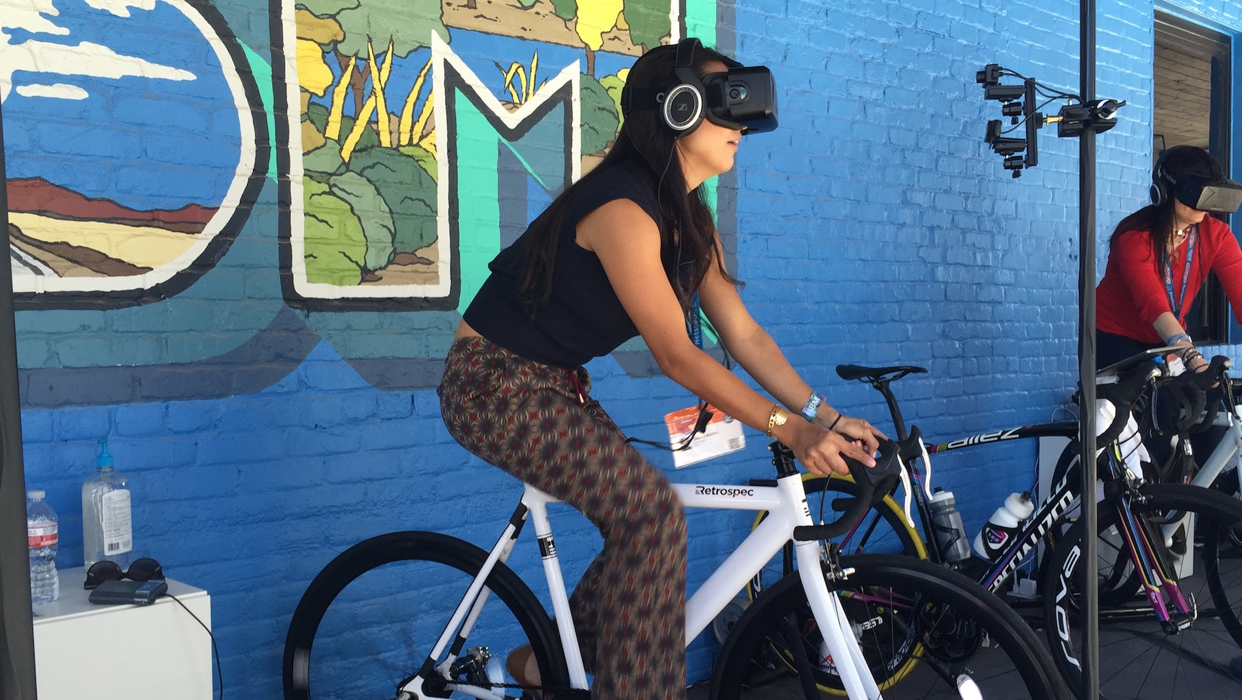 IBM's virtual reality cycling at SXSW | Photo: BoF