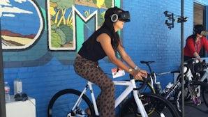 IBM's virtual reality cycling at SXSW | Photo: BoF