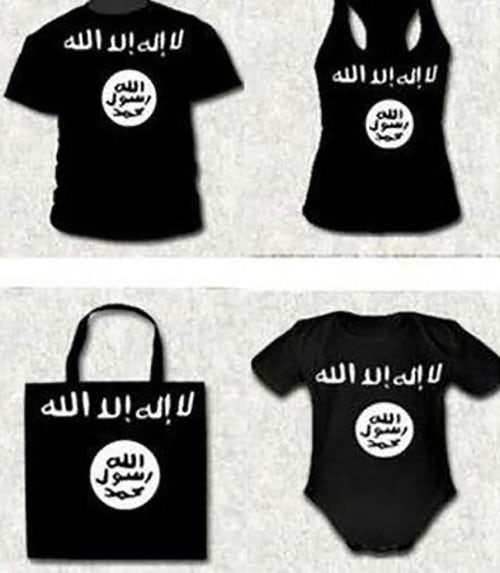 ISIS-themed clothing which a man in Spain was arrested for selling | Source: Spanish Interior Ministry