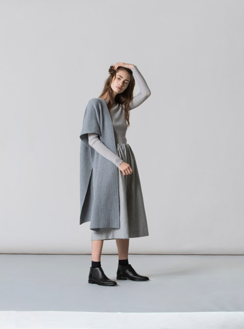 A model wears Everlane's modern ankle boot | Source: Courtesy