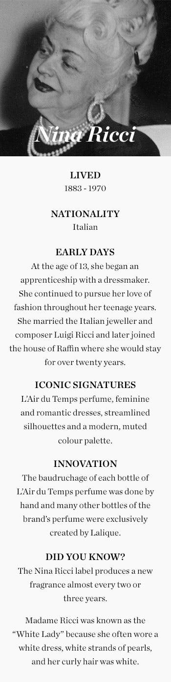 Nina Ricci - Fact Box