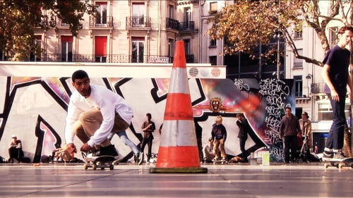 Sage Elsesser at Place de la République | Video Still: William Strobeck