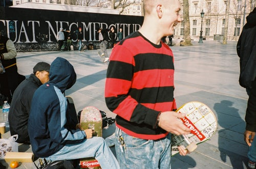 Tyshawn Jones, Sage Elsesser and Ben Kadow at Place De La République | Photo: Todd Jordan