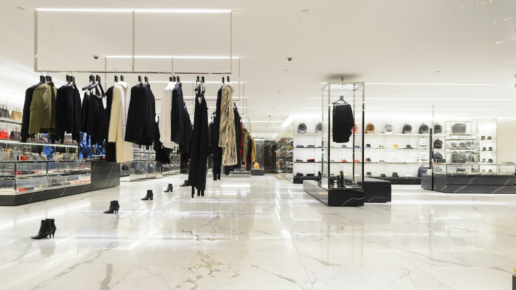 A Saint Laurent concession store at Elements Shopping Mall, Hong Kong   Source: Shutterstock