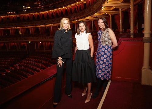 L-R Nadja Swarovski, Natalie Massenet and Caroline Rush | Photo: Shaun James Cox