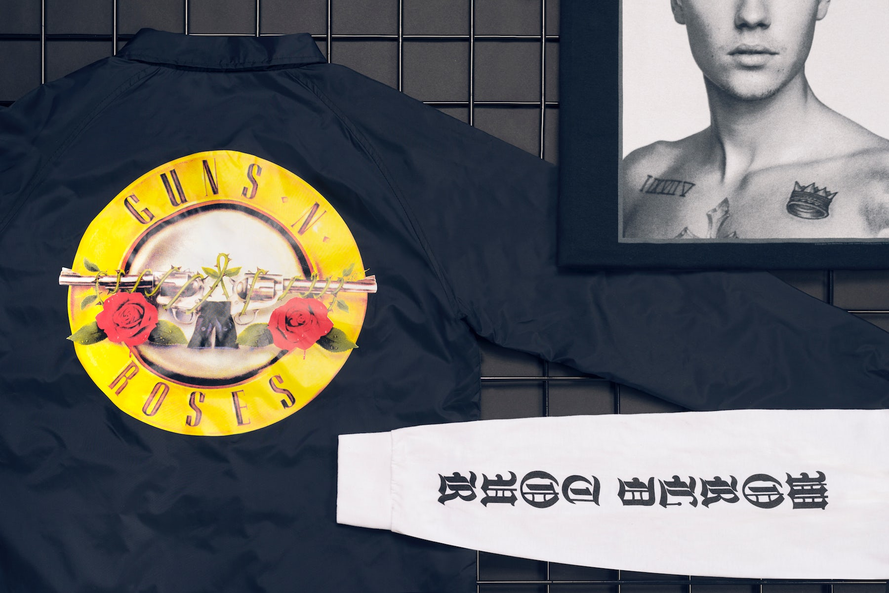 Tour merchandise from Guns 'N Roses and Justin Bieber's Purpose tour | Photo: Richie Talboy and Lucas Lefler for BoF