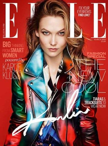 Elle UK's March 2016 cover shot by Kai Z Feng | Source: Models.com