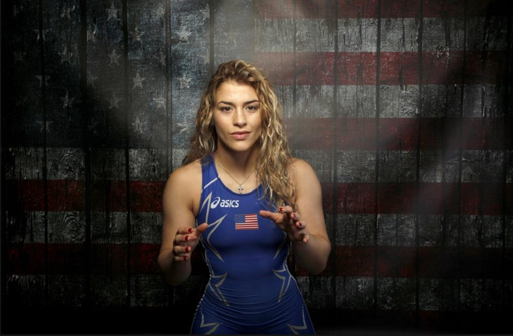 Wrestler Helen Maroulis poses for a portrait at the US Olympic Committee Media Summit   Source: Reuters