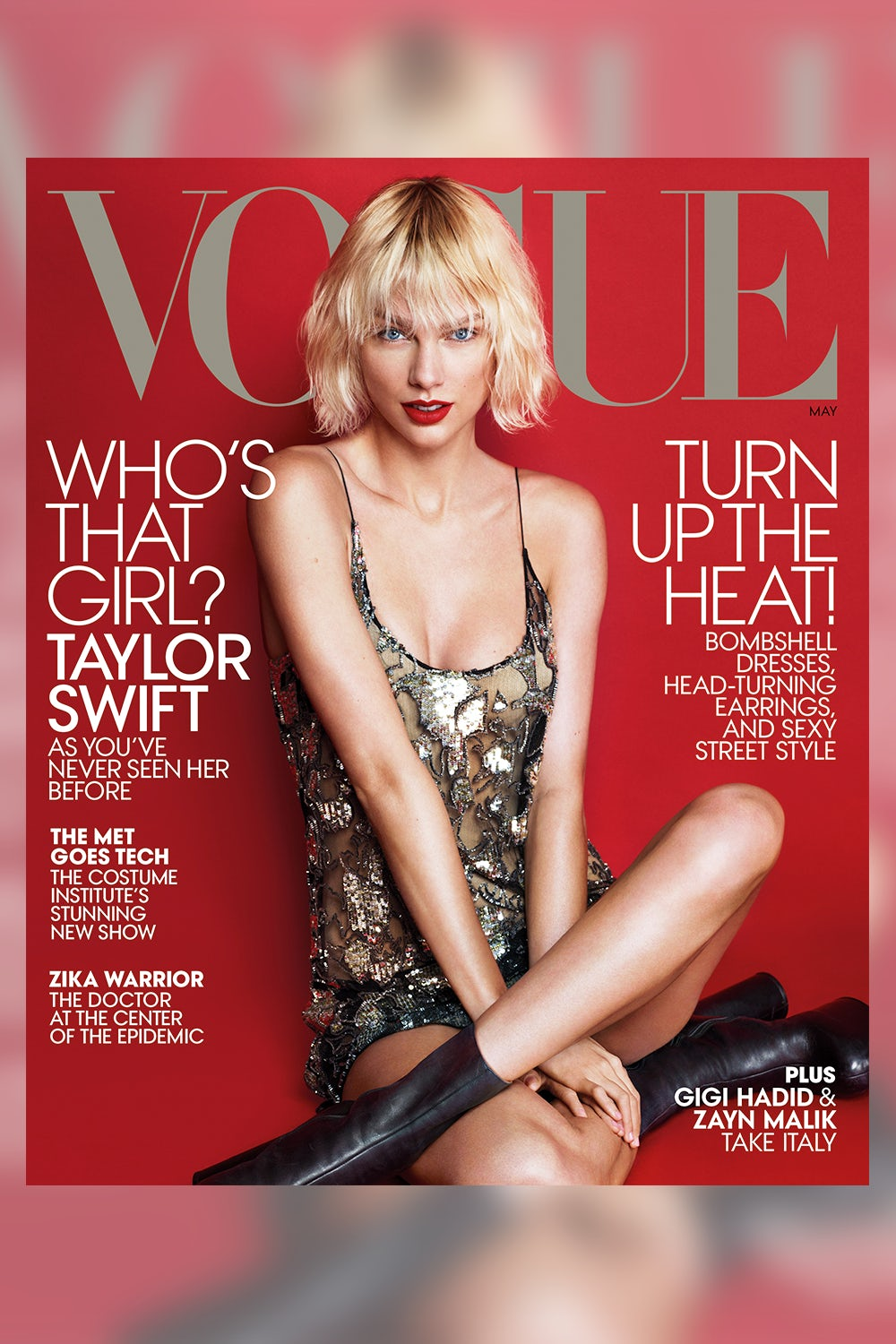 Taylor Swift on the cover of Vogue's May 2016 issue | Source: Courtesy