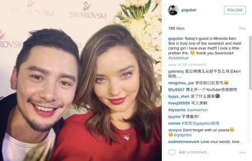 Gogoboi and Miranda Kerr on Instagram | Source: Instagram/gogoboi