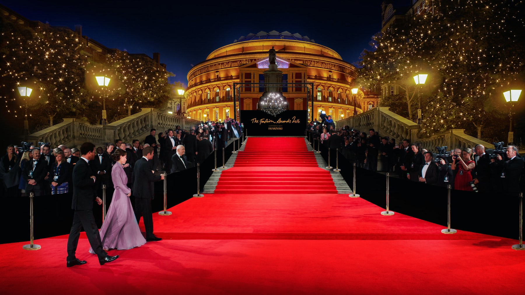 Rendering of the Fashion Awards 2016 at the Royal Albert Hall | Source: Courtesy