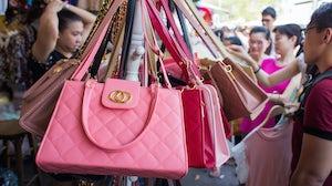 Handbags at a market in Bankok   Source: Shutterstock