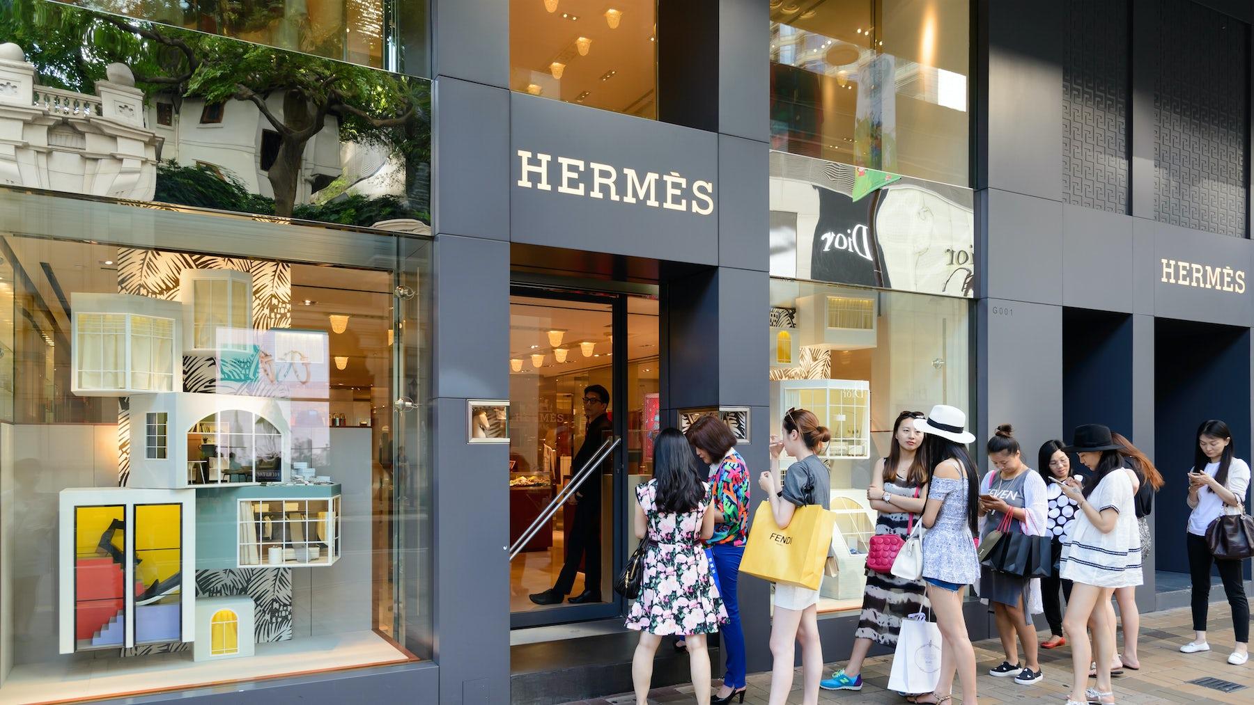 Hermès store, Hong Kong   Source: Shutterstock