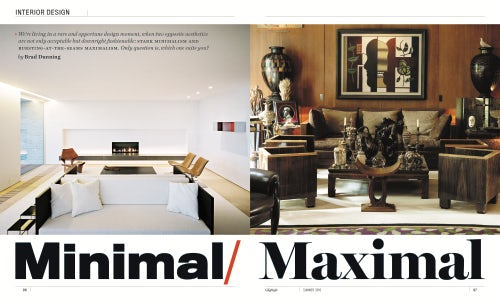 An interior design spread from GQ Style's Summer 2016 issue | Source: Courtesy