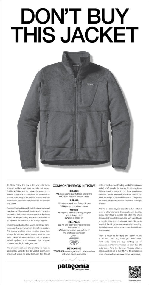 Patagonia advertisement | Source: Courtesy