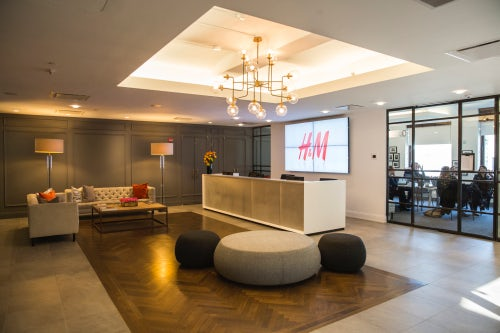 H&M's NY Head Offices Reception | Source: H&M