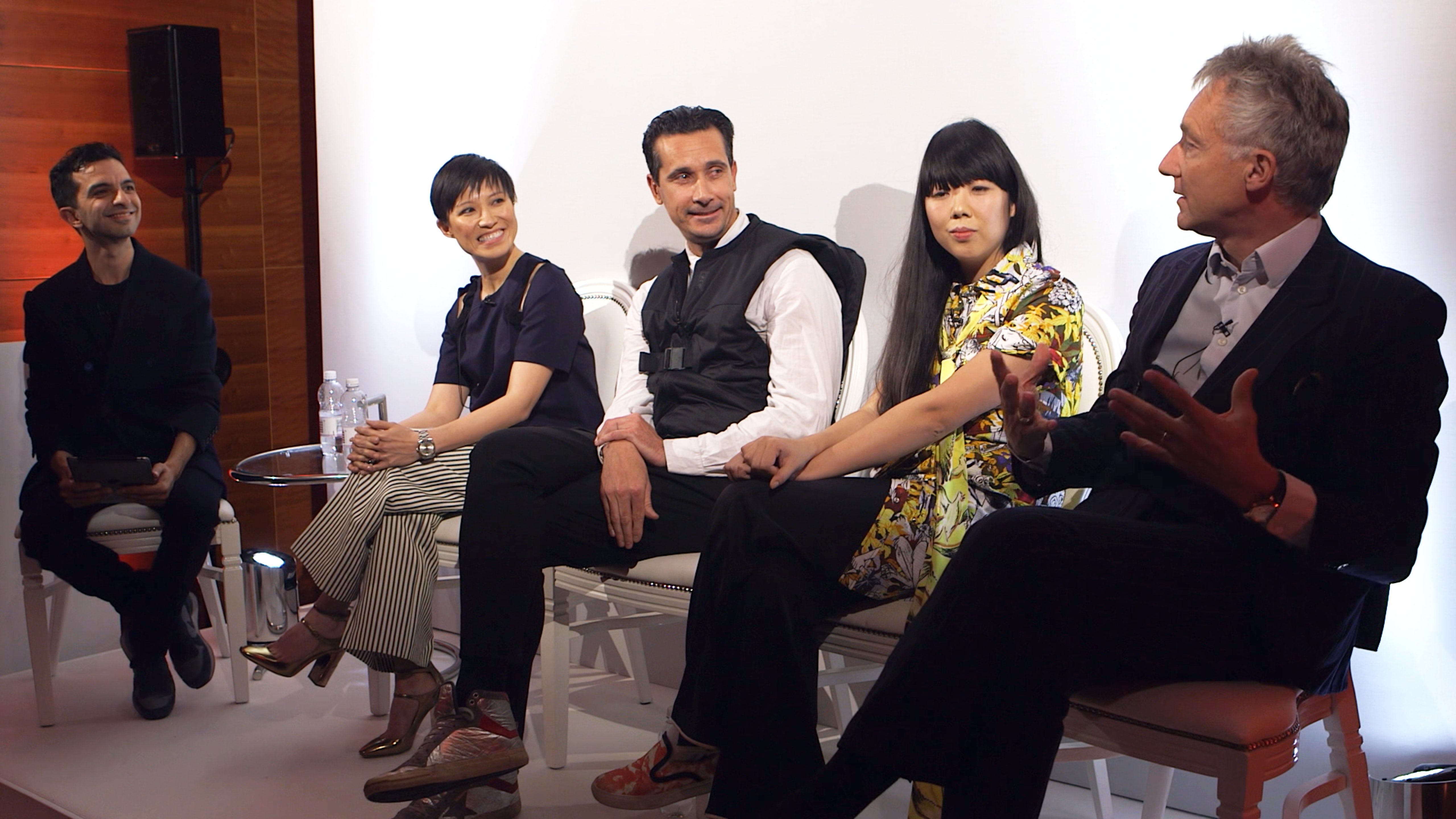 L-R: Imran Amed, Sandra Choi, Sebastian Manes, Susie Lau and Geoffroy de La Bourdonnaye   Source: Courtesy