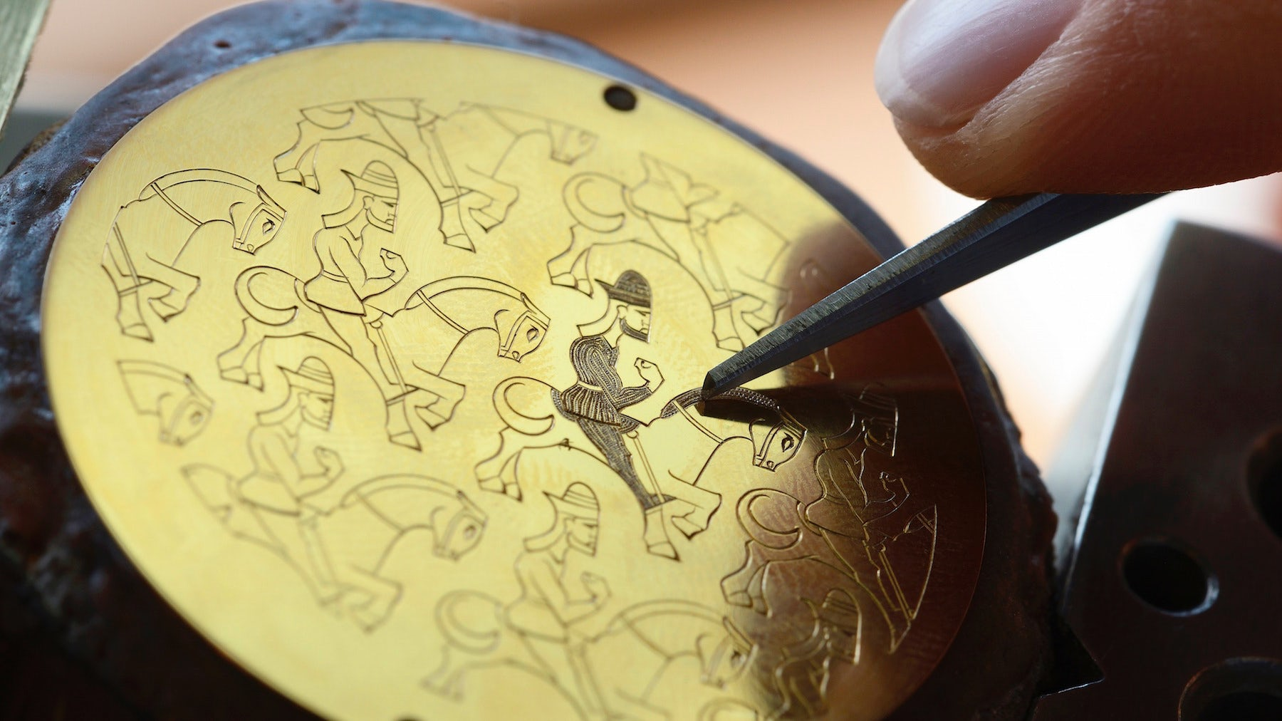 A Vacheron Constantin engraving in progress | Source: London Craft Week