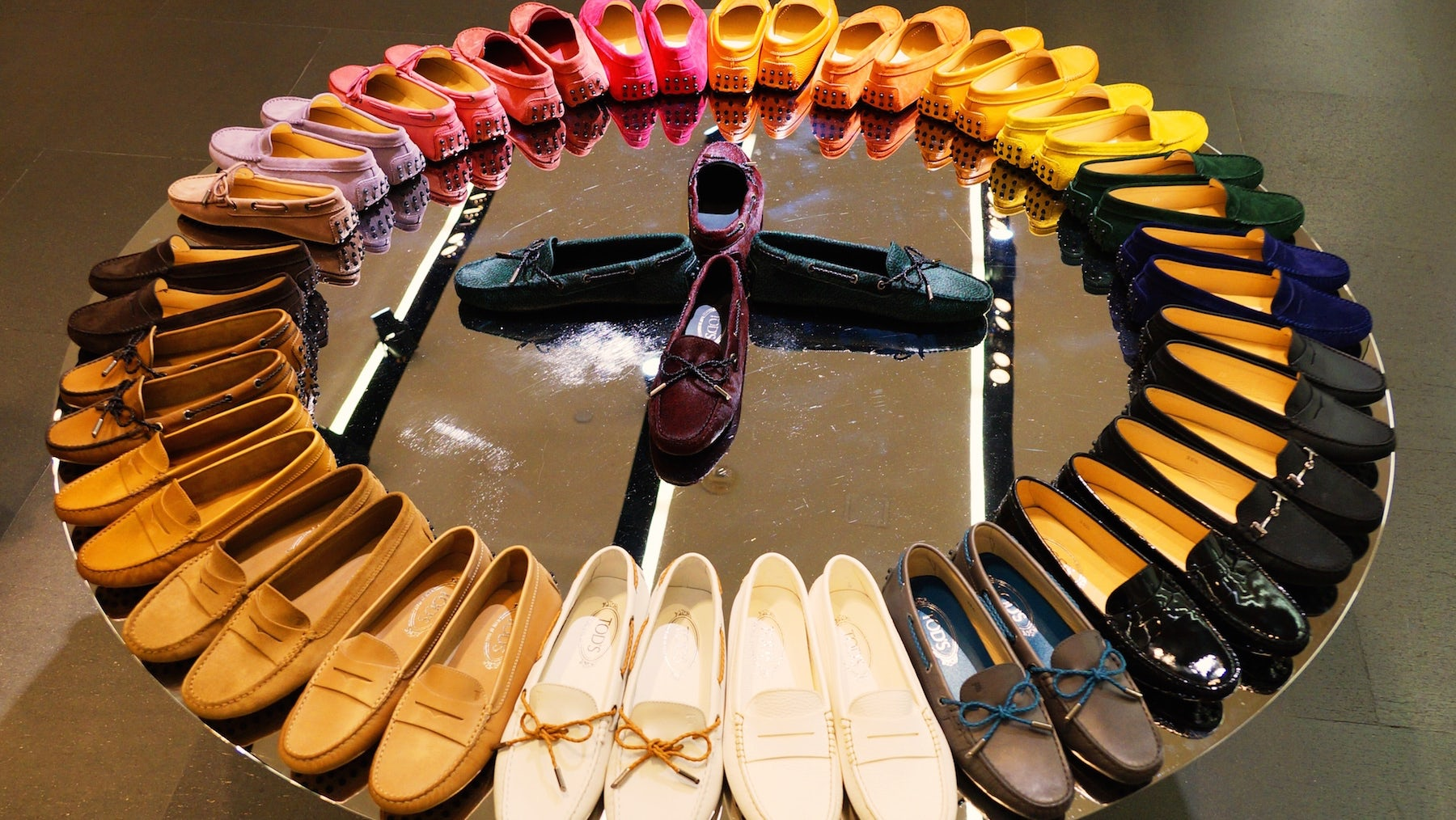 A selection of Tod's loafers | Source: Shutterstock