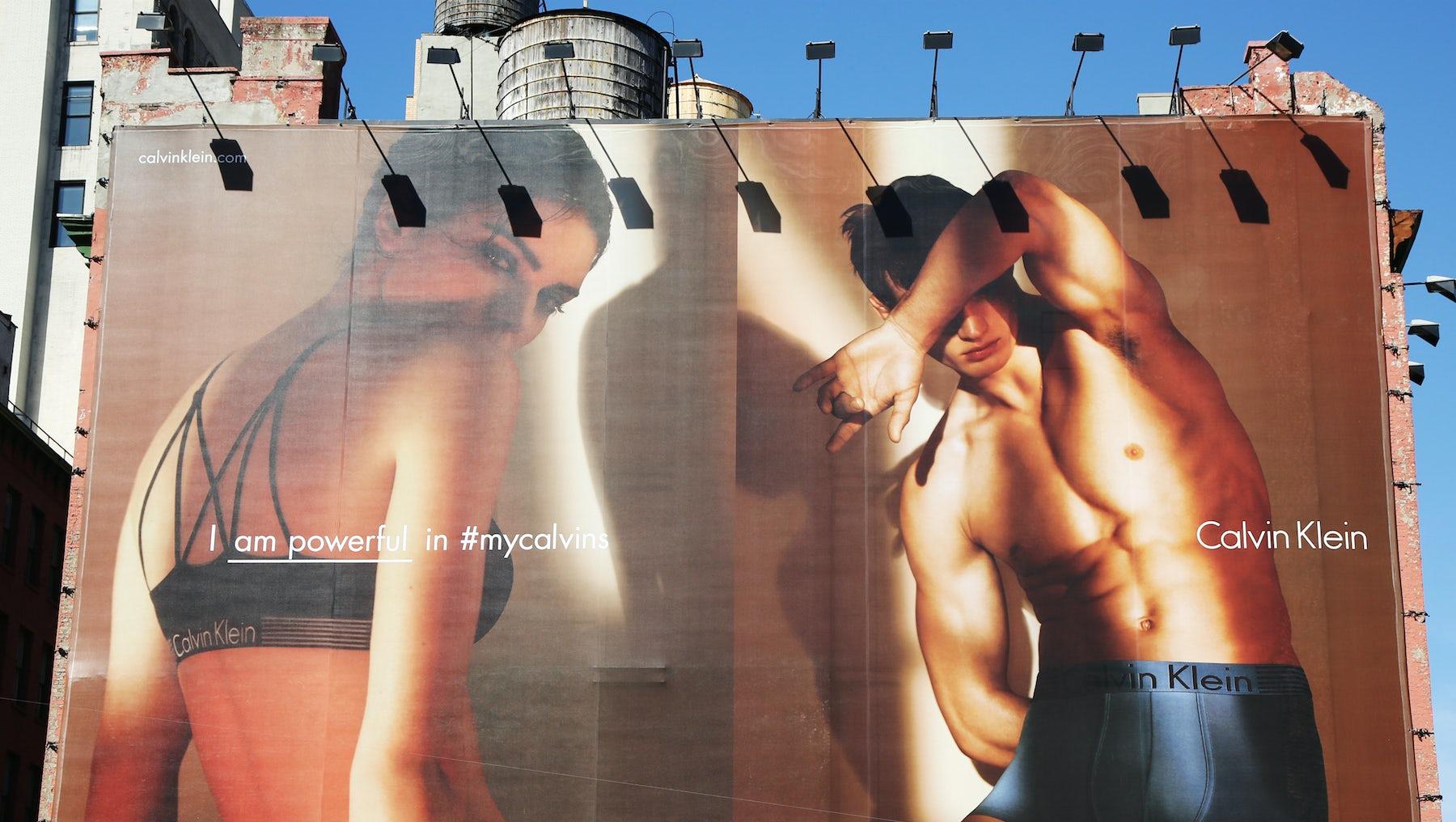 Calvin Klein underwear billboard | Source: Shutterstock