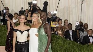 Emma Watson, Margot Robbie and Lupita Nyongo attend the Met Gala | Source: Ovidiu Hrubaru/Shutterstock