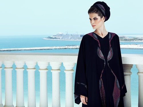 Abaya encrusted with Swarovski by Saudi Arabian label Marent | Source: Swarovski