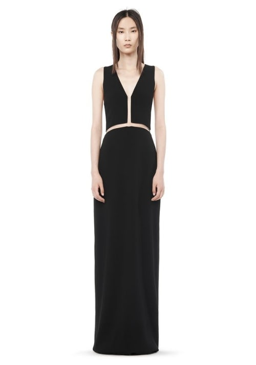 Alexander Wang's fishline v neck gown | Source: Alexander Wang