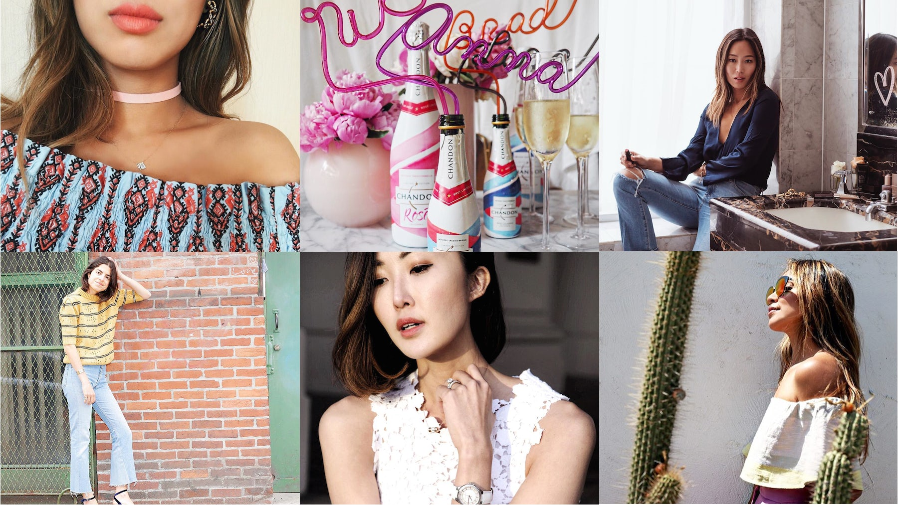 Digital influencers on Instagram | Source: Instagram/@lauramercier, @nicolettemason, @songofstyle, @manrepeller, @chrisellelim, @sincerelyjules