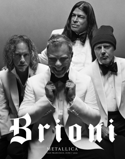 Justin O'Shea's first campaign for Brioni, starring Metallica | Source: Courtesy
