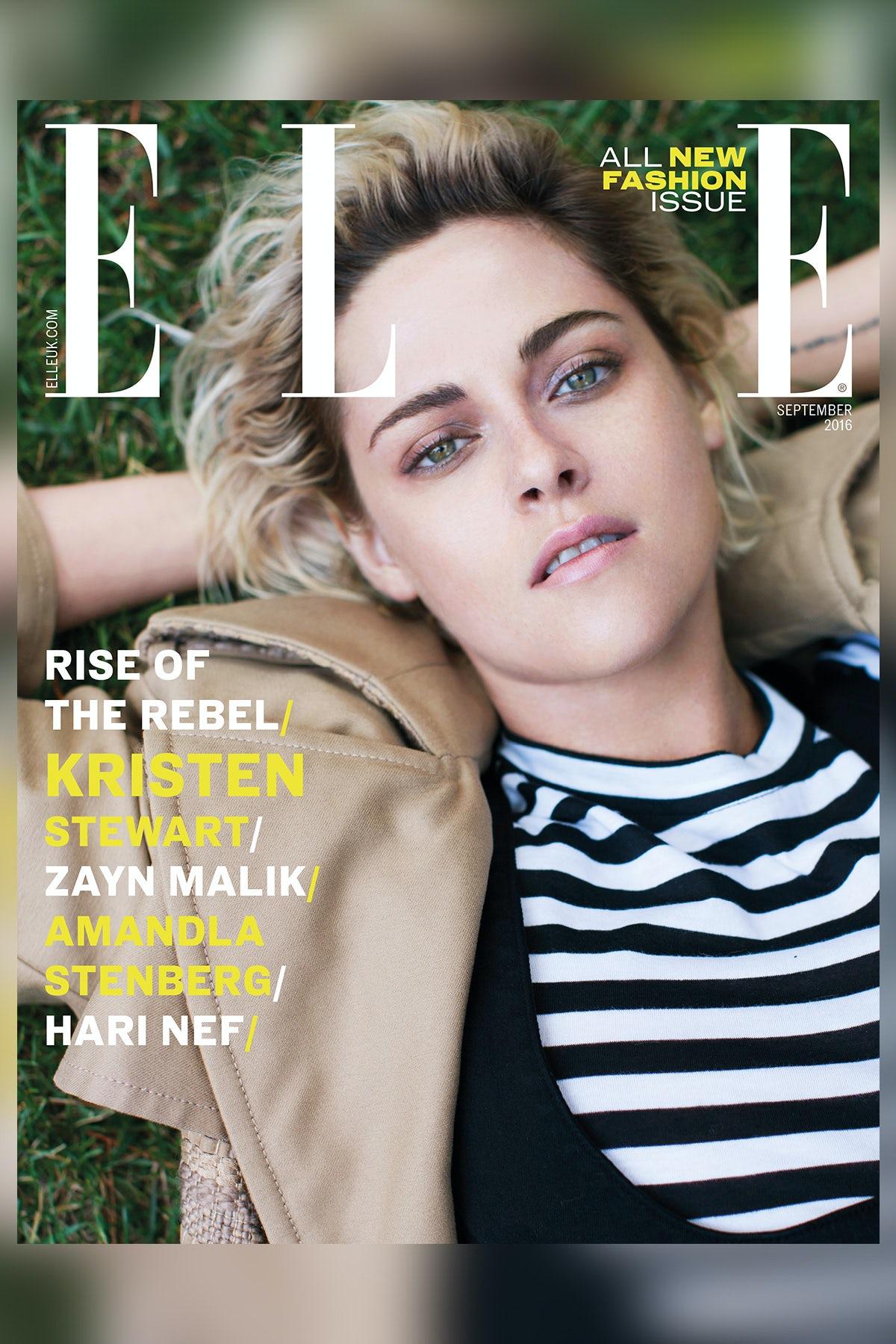 Kristen Stewart on the cover of Elle UK's September 2016 issue | Source: Courtesy