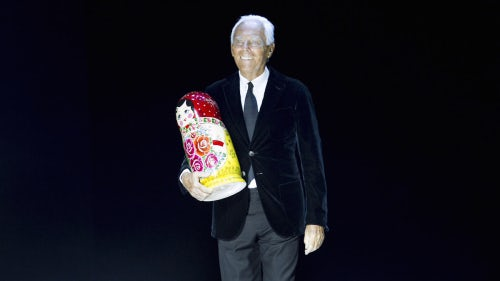 Giorgio Armani stages a show in Moscow this April | Source: Courtesy